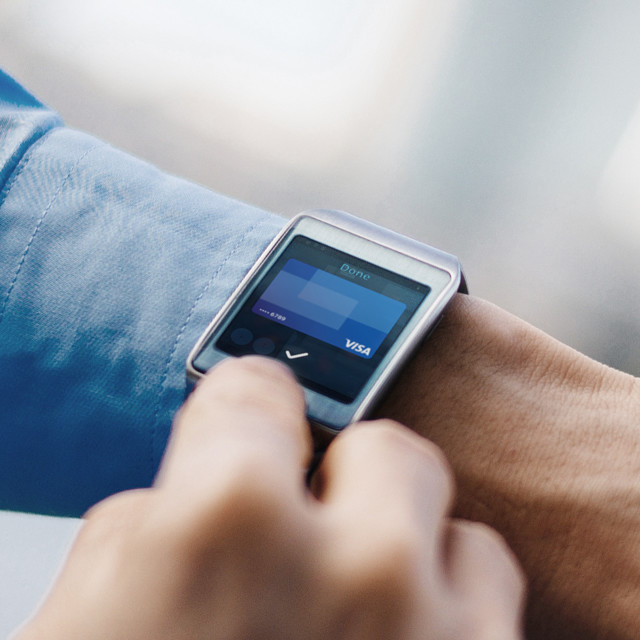 Wrist with a smart watch