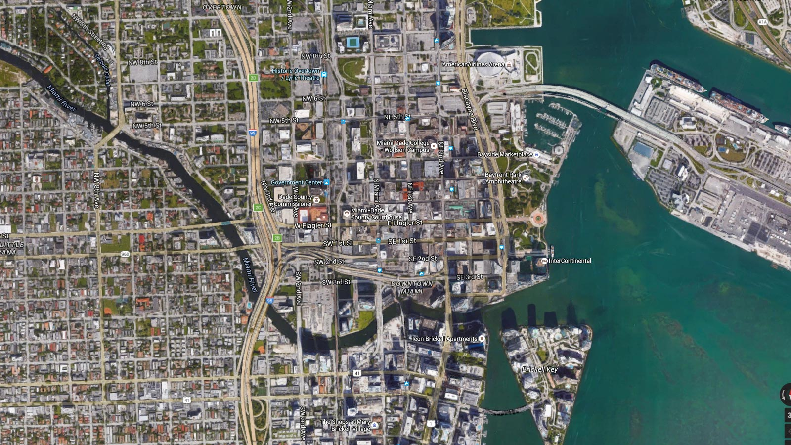 Miami, Grid, Navigate, City